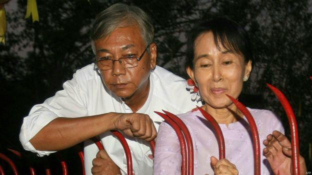 缅甸全国民主联盟成员吴廷觉当选总统