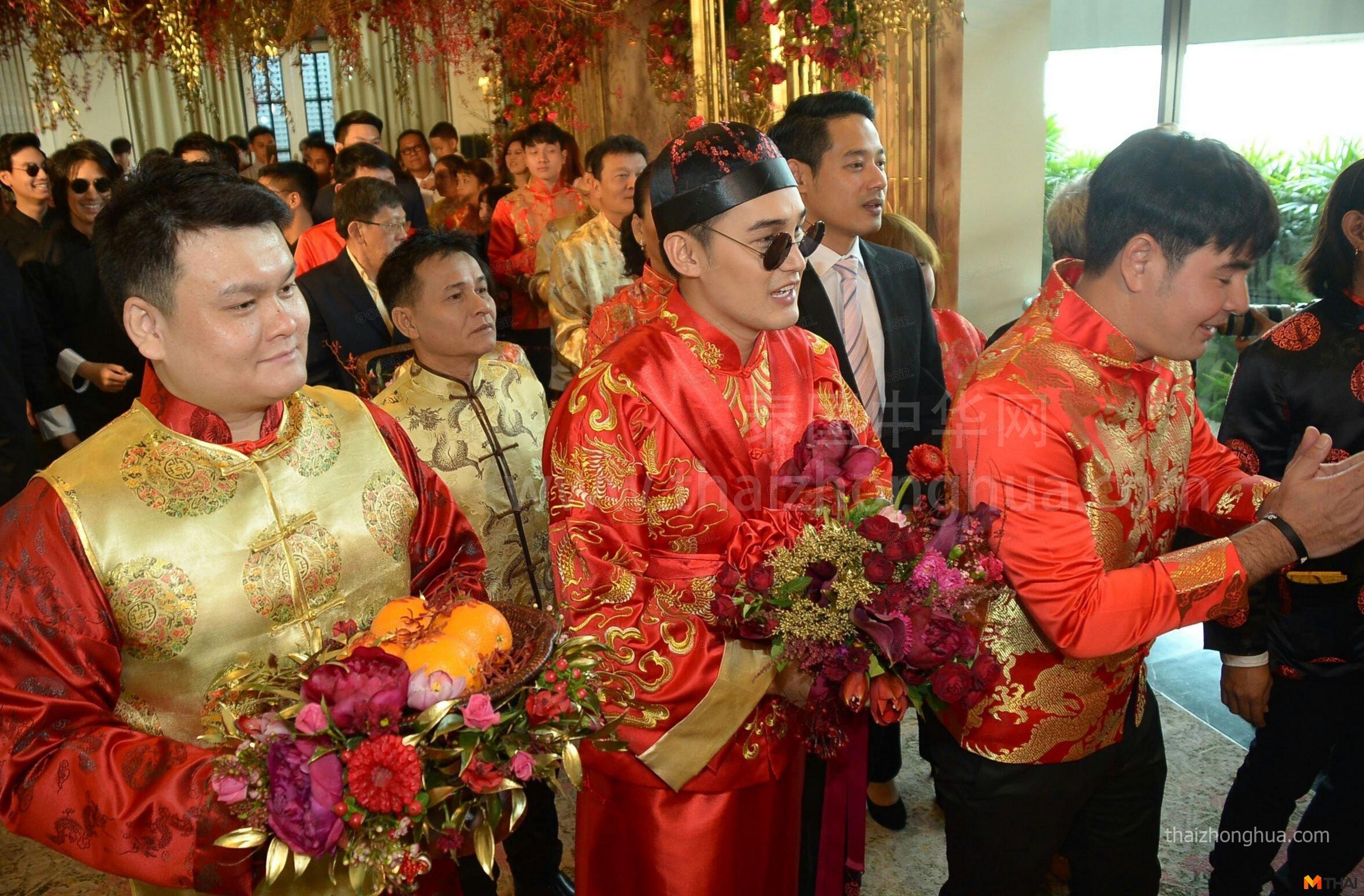 泰国明星 Techin 结婚 泰国中式婚礼