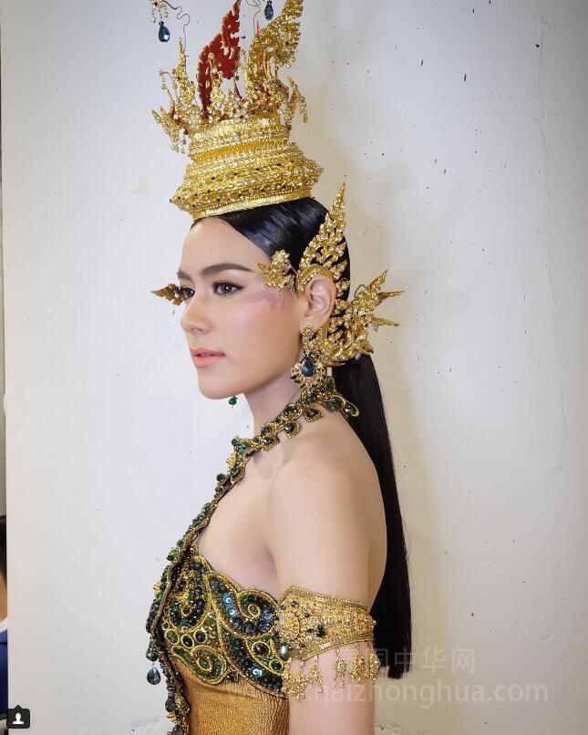 泰国混血女星Kim Kimberl 2017年宋干女神 (1)